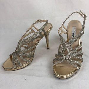 Mia Gold Glitter Heels 7